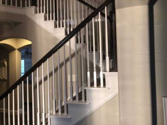 Trico Painting residential interior painting on a staircase Staining and Painting Your Stair Case