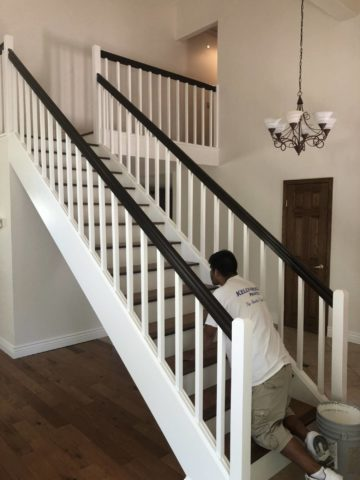 Staining and Painting Your Stair Case